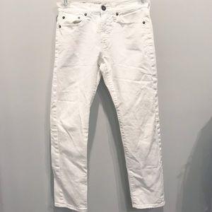 Women's White American Eagle Jeans-Sz 26x28